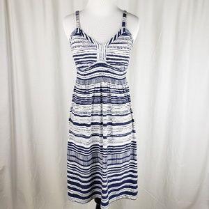 Athleta Bahia Printed Stripe Dress